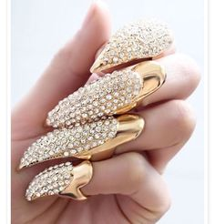 Gold jewelry for your nails                                                                                                                                                                                 More