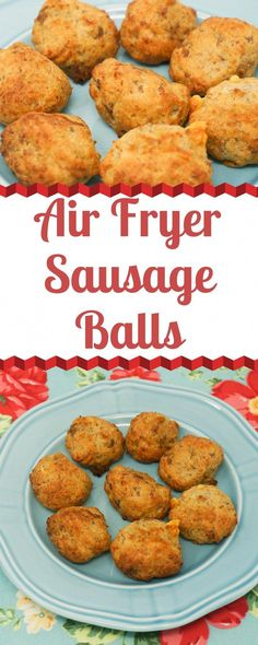 air fryer recipes snacks Air Fryer Sausage Balls are a perfect make-ahead breakfast that takes just a few minutes to cook in the Air Fryer. Mix up the Sausage Balls and store them uncooked in the freezer until you're ready to cook them. Air Fryer Recipes Snacks, Air Fryer Recipes Breakfast, Air Frier Recipes, Air Fryer Dinner Recipes, Appetizer Recipes, Snack Recipes, Cooking Recipes, Cooking Tips, Easy Recipes