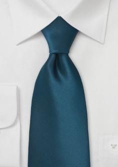 Teal Blue Single Color Tie