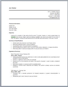 Acting Resume Beginner Blank Resume Forms To Fill Out  Httpwww.resumecareerblank .