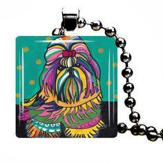 Jewelry Dog SHIH TZU Jewelry Pendant Necklace by HeatherGallerArt, $28.00