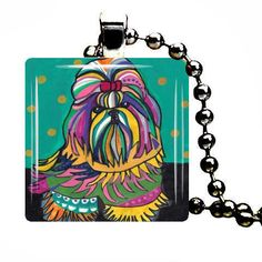 50 off  SHIH TZU Art Jewelry Necklace Pendant by HeatherGallerArt, $15.00