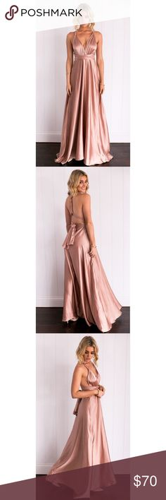 Celestial Dress (Mocha) Prom Dress long silk maxi prom dress size: small bought but never worn, new with tags in packaging price negotiable if necessary Mura Boutique Dresses Maxi