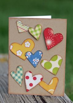 just simply cute! lots of hearts, use up scraps and adhere! could be nice thinking of you, lots of love for get well