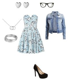 """""""Untitled #288"""" by mrs-grant-guston ❤ liked on Polyvore featuring TFNC, VILA, Blue Nile, GlassesUSA, Jessica Simpson, Worthington and Links of London"""
