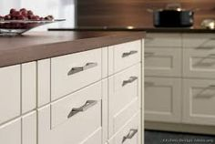 Znalezione obrazy dla zapytania white kitchen cabinets with wood countertops