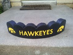 Iowa hawkeyes.. Next project!painted red and black..bulldogs!