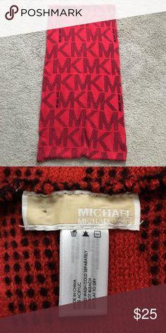 Michael Kors Infinity Scarf Red Michael Kors infinity scarf with black MK logo. Michael Kors Accessories Scarves & Wraps