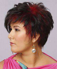 Short Straight Alternative Hairstyle - Dark Mocha Brunette Hair Color - Side on View 1970s Hairstyles, Short Spiky Hairstyles, Short Choppy Hair, Short Straight Hair, Short Hair Cuts, Straight Hairstyles, Hairstyle Short, Textured Hairstyles, Hairstyle Ideas