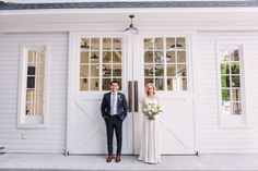 An Intimate Green & White Los Angeles Wedding