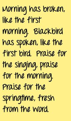 Cat Stevens - Morning Has Broken - song lyrics, song quotes, songs, music quotes, music lyrics