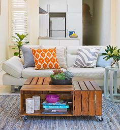 How to make a fruit box coffee table: If you're missing a statement piece for your living room, build on those crate expectations with this DIY coffee table inspired by the fruit boxes of yore.