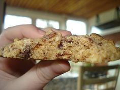 Havregrynscookies med chokolade og nødder