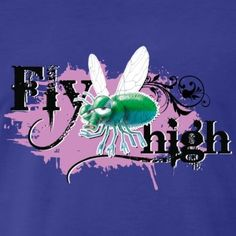 shirt motiv fliege party Fly high lila - Männer Premium T-Shirt