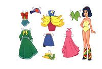 Kids Under 7: New Paper Dolls with Clothes