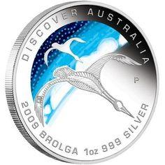 Discover Australia 2009 Dreaming – Brolga 1oz Silver Coin   coin , perth mint coins, bullion coins , silver coins