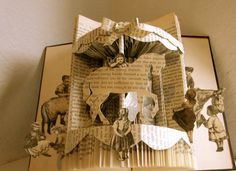 Altered Book Sunday Afternoon Carousel Ride by Raidersofthelostart