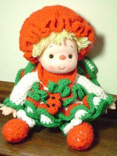 VINTAGE Strawberry Shortcake doll Handmade by by junquegypsy, $14.40