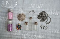 Message I a bottle necklace/decoration. Use letter from bootcamp?