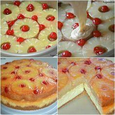 Pinapple upsidedown cheese cake