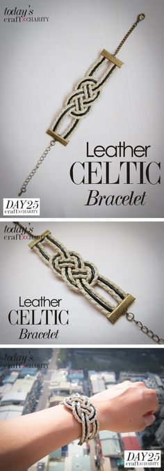 Leather Celtic Knot Bracelet #tutorial