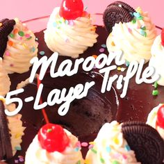 Maroon Trifle A 5 layer cheesecake dessert dip in honor of Maroon 5 playing at Superbowl Easy Desserts, Delicious Desserts, Yummy Food, Baking Recipes, Cake Recipes, Dessert Recipes, Cheesecake Desserts, Layer Cheesecake, Chocolate Cheesecake
