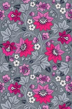Pink and Grey Wallpaper | Floral wallpaper | Pink Floral Wallpaper | Grey wallpaper