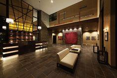 #マンションデザイン#ホテルライク#アートホテル#面白い飾り付け#ラグマットの絵#マンションエントランス