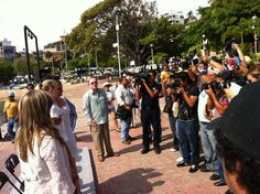 Claquetazo en Acapulco, mientras filmábamos en el puerto, invitamos medios a mirar parte de la filmación de No se aceptan devoluciones
