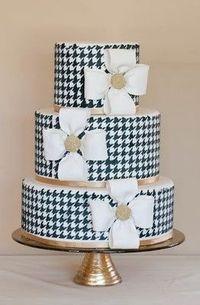 Houndstooth Wedding Cake