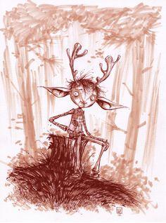 #DailySketch @JeffLemire SWEET TOOTH. My blog http://www.skottieyoung.com/ My Tumblr http://skottieyoung.tumblr.com/