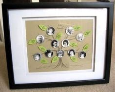 A long time ago I got a huge Martha Stewart family tree diagram as a birthday gift. Christmas Love, Christmas Presents, Craft Gifts, Diy Gifts, Family Tree Diagram, Family Tree Designs, Family Genealogy, Cute Crafts, Photo Displays