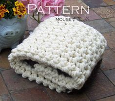 Baby Throw Blanket   Thick & Chunky  Crochet by MouseAndThimble, $3.50