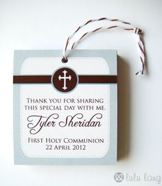 Simple First Communion Baptism Christening or by lululangs on Etsy, $7.20