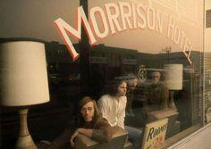 The Doors inside the Morrison Hotel in LA, 1960s