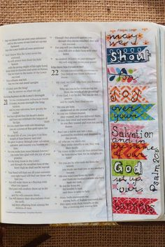 Psalm 20:5|| bible art journaling Original work by Jessilyn B. #washitape