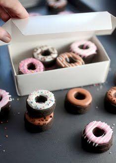 Double Decker, Dark Chocolate, Mini Doughnut Sugar Cookies   Bakerella