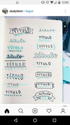 Decoraciones Bullet Journal Titles, Bullet Journal Banner, Journal Fonts, Bullet Journal Notebook, Bullet Journal School, Bullet Journal Inspiration, Lettering Tutorial, Journal Aesthetic, Writing Styles