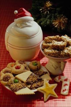 Christmas cookies are traditionally sugar cookies (though other flavors may be used based on family traditions and individual preferences) cut into various shapes related to Christmas.