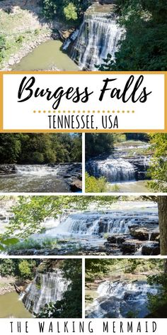 Outdoor Travel usa Burgess Falls is an iconic gem - outdoortravel Vacation Places, Dream Vacations, Vacation Spots, Places To Travel, Travel Destinations, Vacation Ideas, Burgess Falls State Park, State Parks, Tennessee Waterfalls