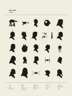 laughingsquid:  Art Print That Alphabetically Displays Star Wars Character Silhouettes