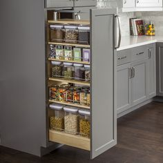 Hardware Resources Hardware Resources Inch Wide by 60 Inch Tall Cabinet Pull Out She Wood Tall Cabinet Organizers Pull Out Pantry Organizers Pull Out - Own Kitchen Pantry Kitchen Redo, Kitchen Pantry, New Kitchen, Kitchen Storage, Kitchen Cabinets, Kitchen Ideas, Pantry Ideas, Awesome Kitchen, Diy Cabinets