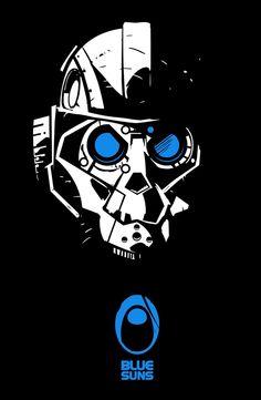 "French artist Rémy Pontzeele's Mass Effect ""Blue Suns"" Poster"