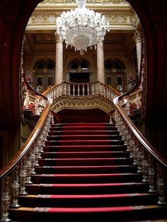 Grand Staircase - Kinda reminds me of the staircase in Scarlett & Rhett's Atlanta Mansion in 'Gone With The Wind.""