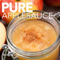 Clean, Unprocessed Homemade Applesauce