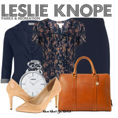 I sure do have lots of P&R on here... Inspired by Amy Poehler as Leslie Knope on Parks & Recreation. No heels for me right now but I love the rset!