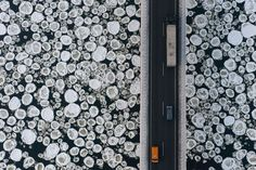 Kacper Kowalski was once an architect consumed by line and form. These days he combines his passions of paragliding and photography to capture the unusual patterns and geometries an aerial perspective can offer. Here cars zoom over the ice-covered Vistula River in Poland. A book of his photographs is available at KacperKowalski.com