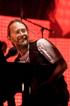 Thom Yorke with the cutest smile