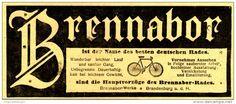 Original-Werbung/ Anzeige 1905 - BRENNABOR FAHRRÄDER - ca. 110 x 60 mm