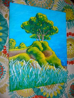 Tree In Albufeira Portugal ORIGINAL ACRYLIC by MikeKrausArt